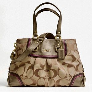 Coach Signature Ashley Spectator Brown Tan Satchel